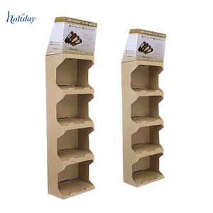 China Supplier Promotional Paper Display , Advertising Cardboard Tableware Display Stand