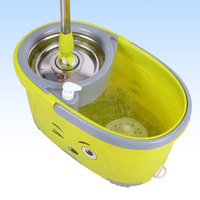 printed bucket,floor and window cleaning mop,2refill