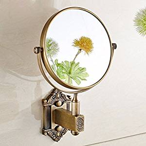 Bathroom mirrors Double-sided enlarge beauty mirror hotel makeup mirror folded mirror wc telescopic mirrors Bathroom Wall Mount
