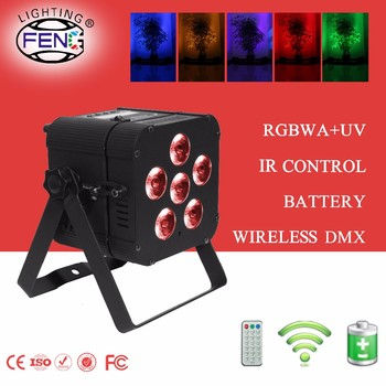 6-6in1 Indoor Led Mini Par Can Battery Operated Wireless Control ...