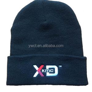 2eca55876744a Free Samples High Quality Black Custom Logo Fitted Beanie Hats