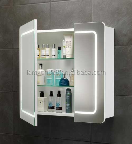 New style wall mount armoire pharmacie avec double face for Armoire de toilette miroir lumineux
