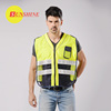 Best selling yellow high visibility vest running reflective cheap vests