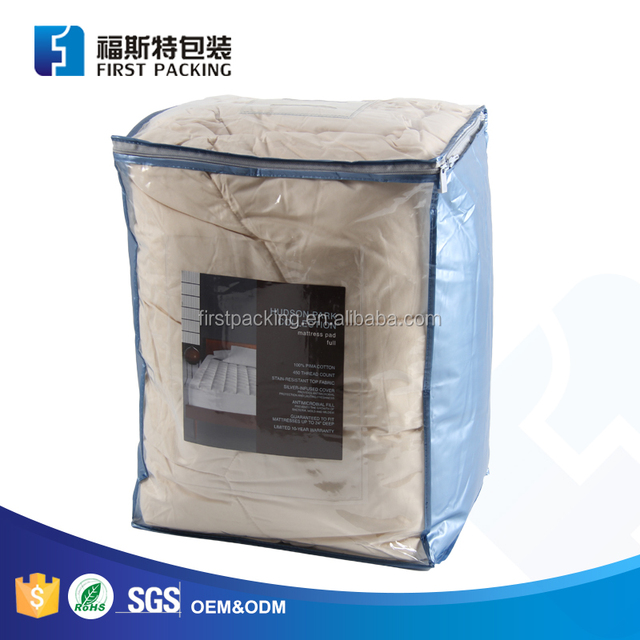 Soft And Durable Clear Pvc Plastic Storage Bag For Bedding Blanket Duvet