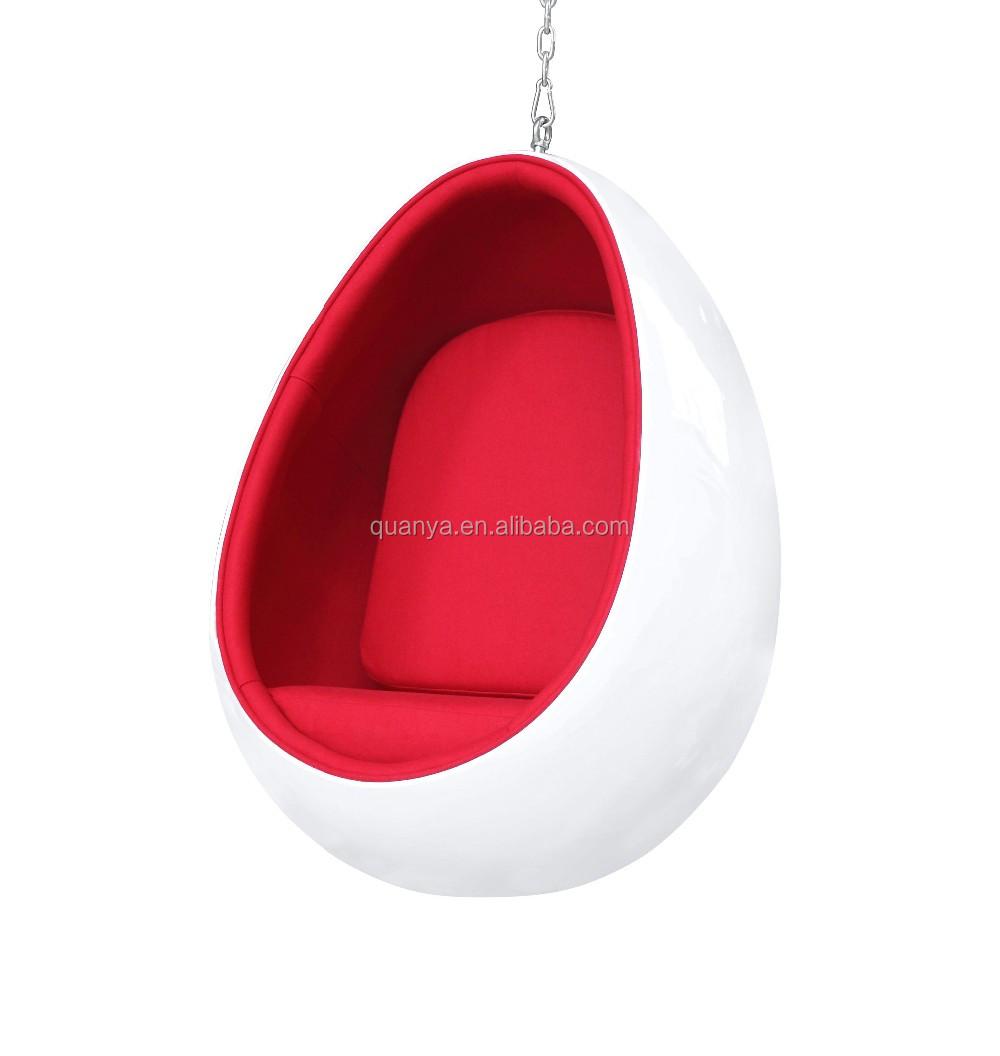 Morden design oval egg chair leisure fiberglass hanging egg chair buy hanging egg chair oval - Fiberglass egg chair ...
