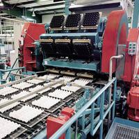 paper recycling good quality rotary paper pulp egg tray machine egg carton press machine