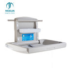 third-toilet washroom Diaper changing table PE Anti-baterial Material Horizontal changing bed Portable Baby Changing Station
