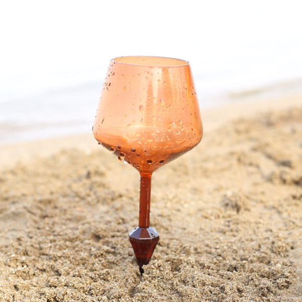 Best Quality Colorful Acrylic Champagne Glass for Beach or Wedding