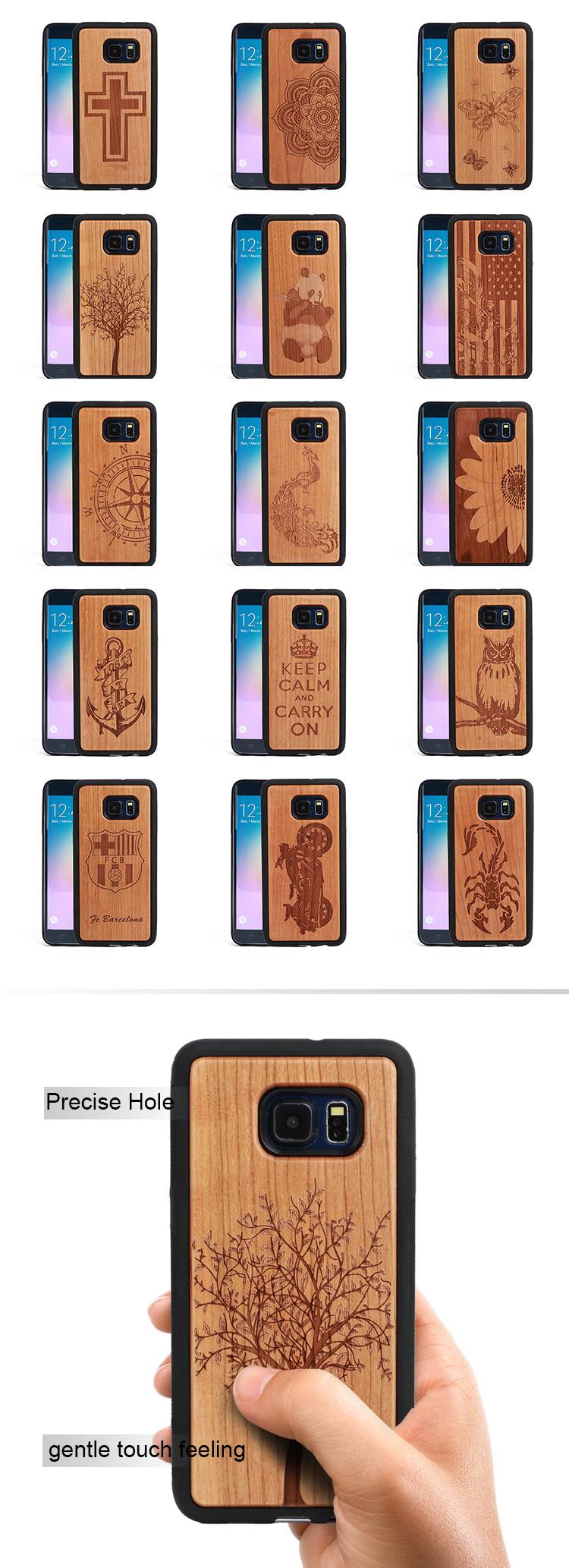 51836019c91cf Простые деревянные телефонные чехлы, деревянные Чехлы для Samsung S8 Plus