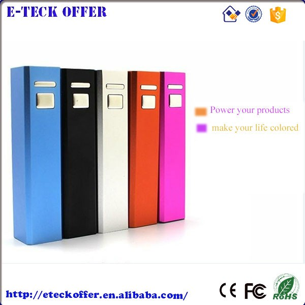 Wholesale Electronics Thin Custom Power Bank 2600mah gift