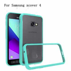 TPU Frame Acrylic Back Phone Case Shock Proof Transparent Clear Case Cover For Samsung Galaxy Xcover 4 G390F
