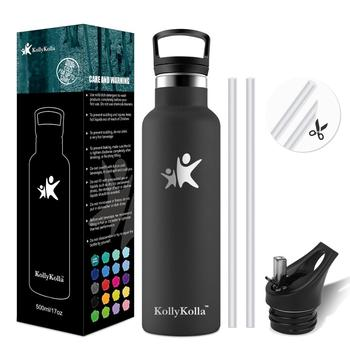 Hot Selling Sports Water Bottle with Straw 750ml Custom Insulation shaker bottle Stainless steel Thermoses