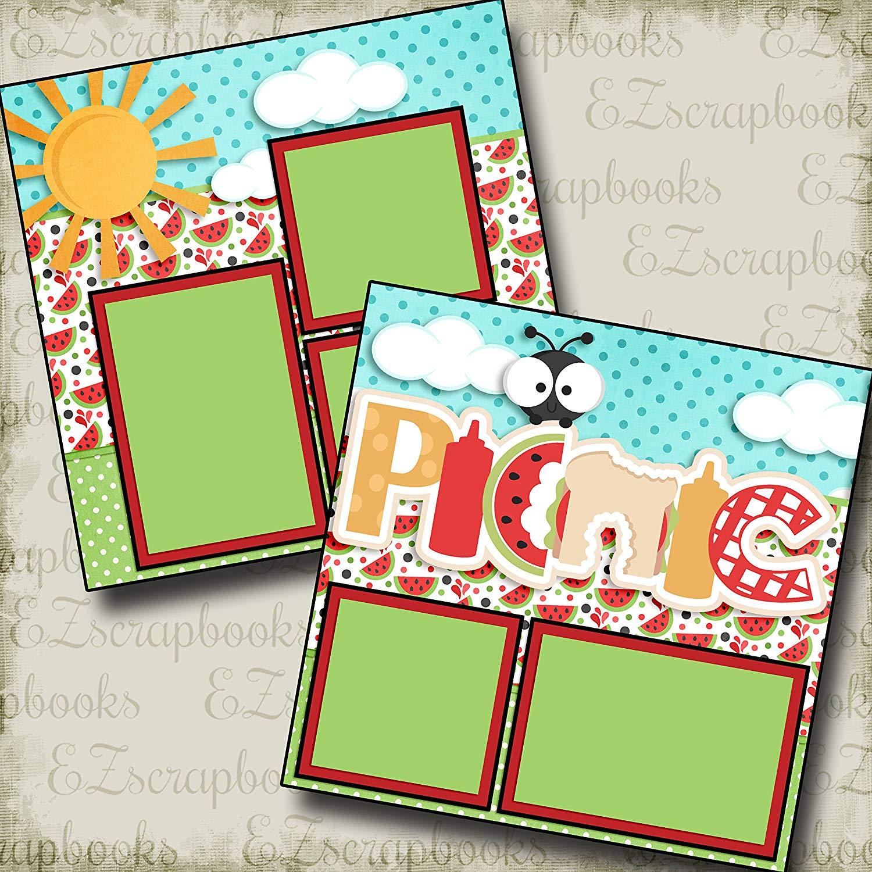 Picnic - Premade Scrapbook Pages - EZ Layout 3216