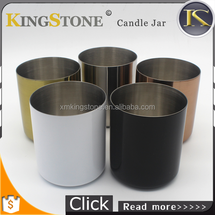 New Decorative Round Empty Copper Plated Metal Votive Candle Holders