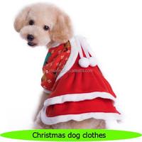 2016 new design beautiful pet dog christmas dress, dog lover