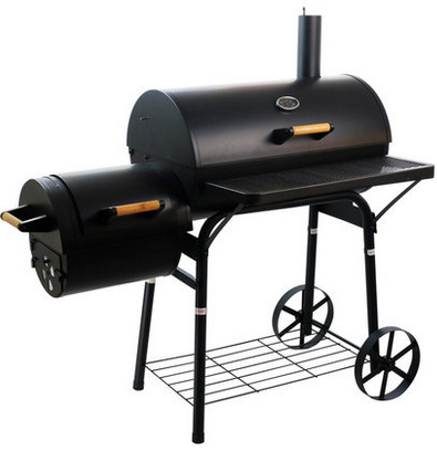 Bradley Smoker Heavy Duty BBQ Grill&Smoker Barrel Barbecue Smoker Metal Grills with Trolley Cart for Backyard Cooking