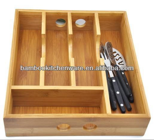 Keuken Lade Organizer : Multi-functies Bamboe/Houten Keuken Lade organizer China( vasteland)