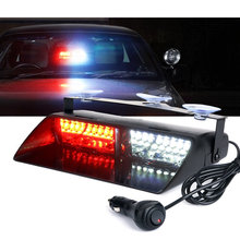 "Red White 9"" 16W High Intensity LED Windshield Emergency Flashing Police Lights"