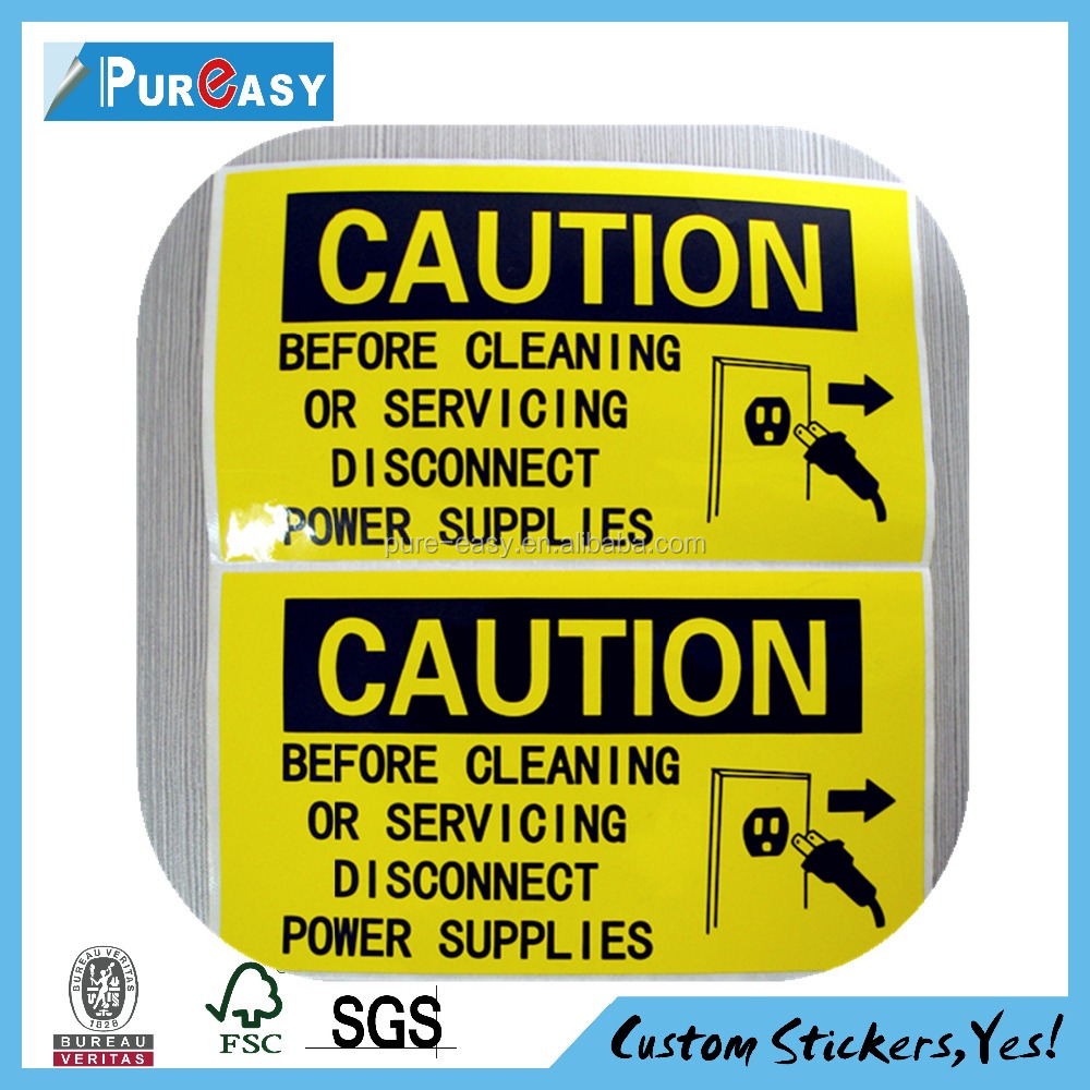 Plastic security seals label stickers and vinyl sticker