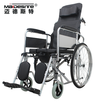 Cheap Price Folding Manual Handicapped Lying Down Wheel Chair ...