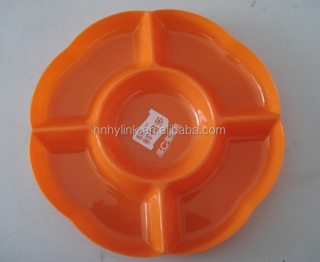 24.8*2.5cm 5-section clear PP plastic dip&chip tray (model number:SM06002)