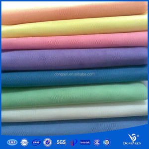 flat jacquard plain hexagonal mosquito net mesh fabric textile for DRF