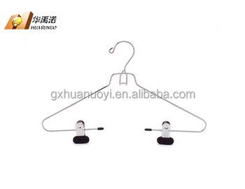 Metal Hanger With Pvc Coated Clips For Suit Suit Wire Hanger