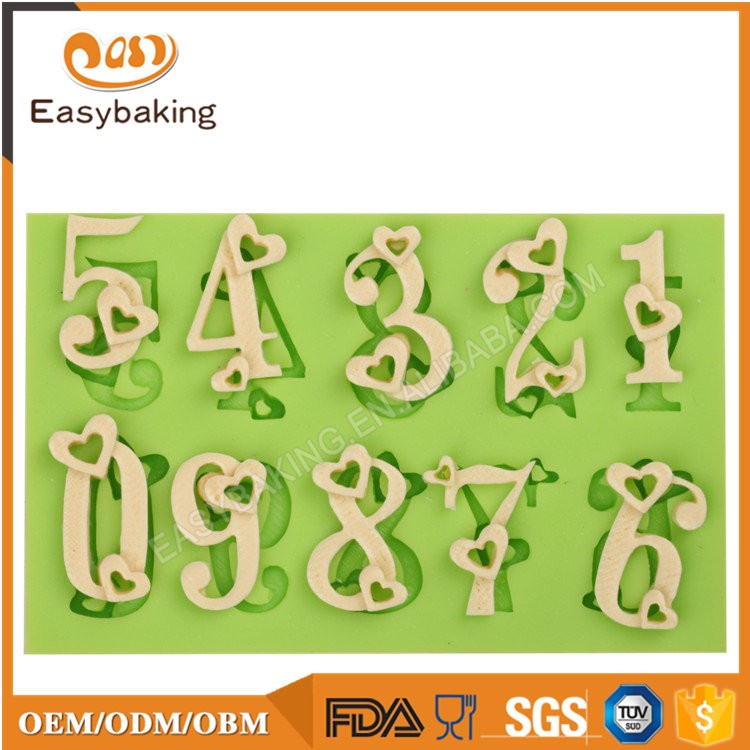 ES-6010 Alphabet Fondant Mould Silicone Molds for Cake Decorating