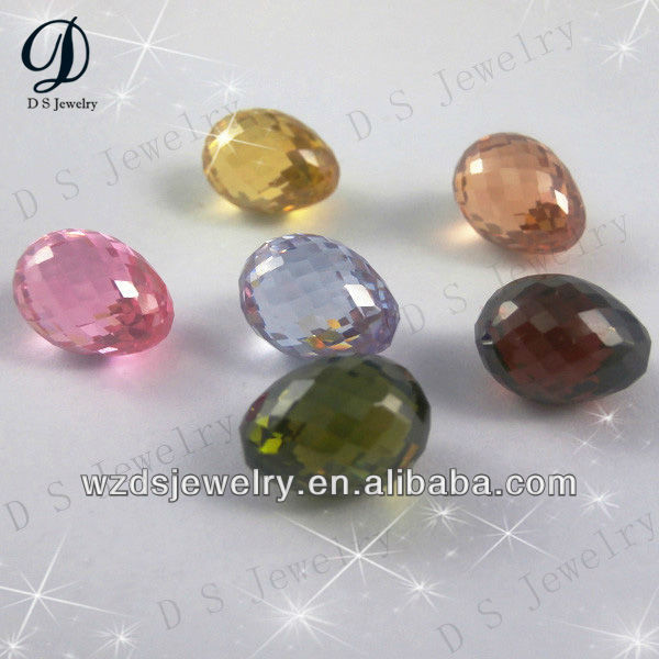 High quality Pineapple shape Drop cubic zirconia