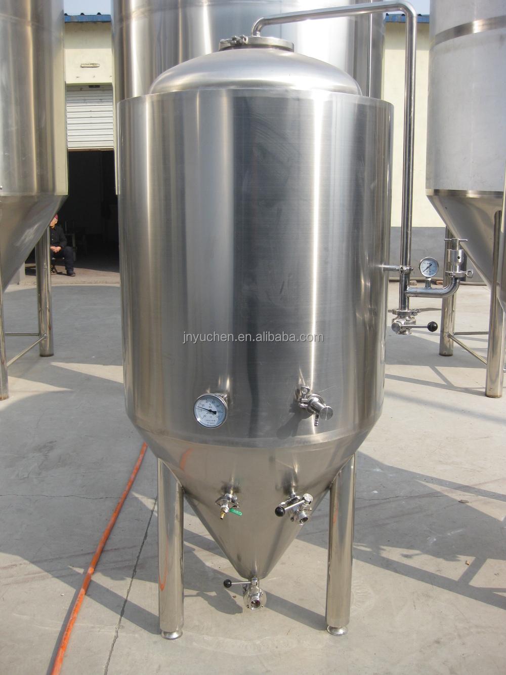 300 Liter Beer Fermentation Tank Cooling Jacket Conical