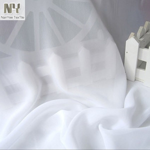 Nanyee Textile Roll Packing White 75D 100D Plain Chiffon Fabric Selling By The Roll