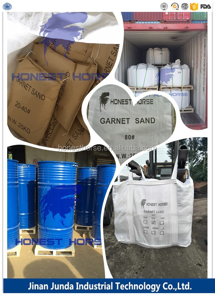 low dust content garnet sand 30/60 for removing bridge rust