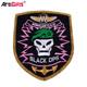 High performance laser cut custom woven patch woven badge