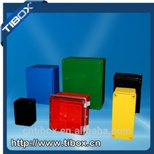 abs electronic plastic box device housing with knock out and rubber for electrical industry, TIBOX