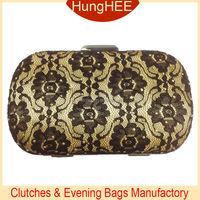 Fashion Clutch Bag Black Lace Flower Pattern Clutch Evening Handbags