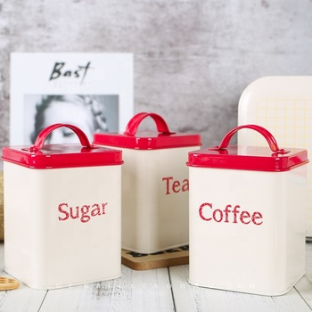 5 pcs household metal canister sets bread /sugar/coffee/tea/biscuits canister metal bread box