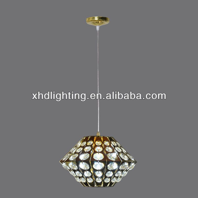 modern style pendant light aluminum crystal decorate dining lamps