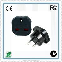 UK to EU plug universal travel adapter adaptor converter charger, 2 pin round pin european plug to 3 pin uk