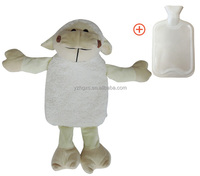 2017 lovely modern luxury target thick plush sheep hot water bag cover for mini rubber hotwater bottle low price