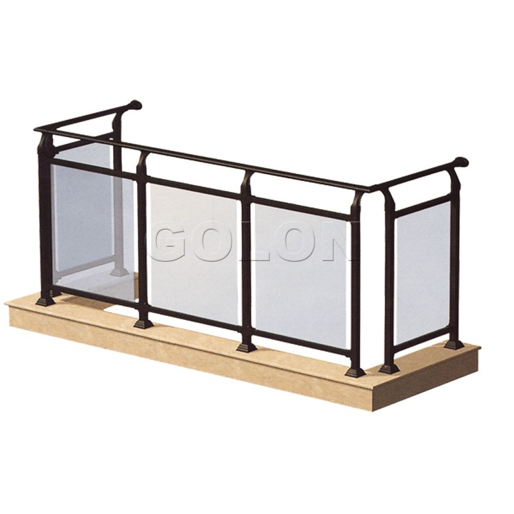 Top grade interior exterior stair frameless balcony glass for Interior glass railing designs