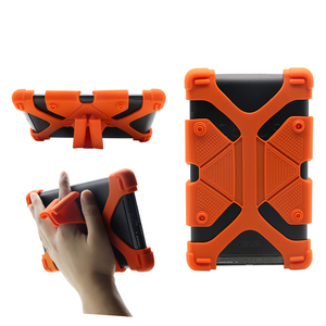 Universal Tablet Case Silicone Shockproof Protective Cover Adjustable Case with Stand Function for 7~8'' Tablet