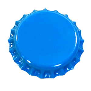 New item blue color metal beer bottle crown cap