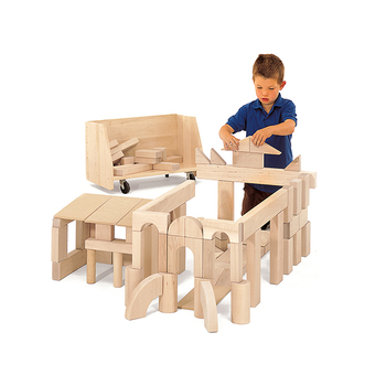 Educational Building Blocks Kids Learning Toys Wooden Montessori Material For Kindergarten Or School