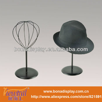 Simple Style Black Iron Tabletop Hat Stand Display For Brand Store