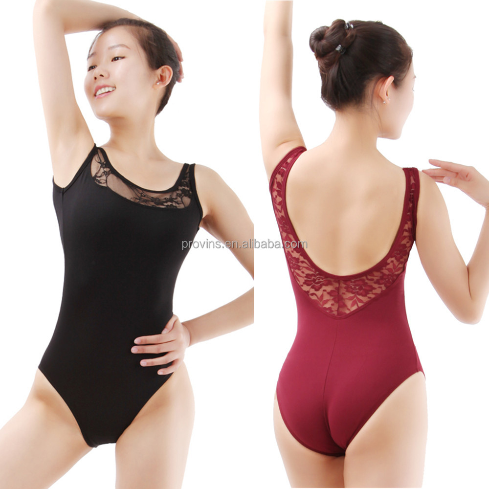 Fationalble and Sexy Lace Sleeveless Ballet Dance Leotard for Women