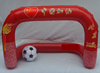 Red hot sale plastic mini inflatable pvc soccer ball / American football goal post