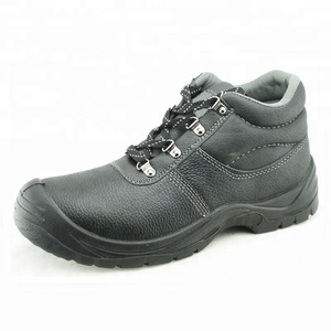 Buffalo leather steel toe working men safety boots