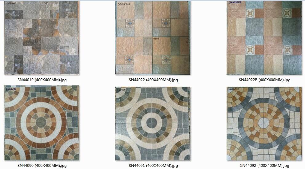 Lastest Design Garden And Balcony Usage Floor Tile 400x400mm