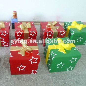 fiberglass indoor christmas decorationschristmas giftbox - Fiberglass Christmas Decorations