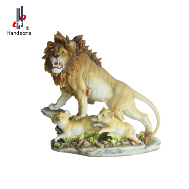 Animal Sculpture Lion Statues Resin Animal